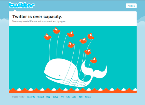 Twitter capacity outage